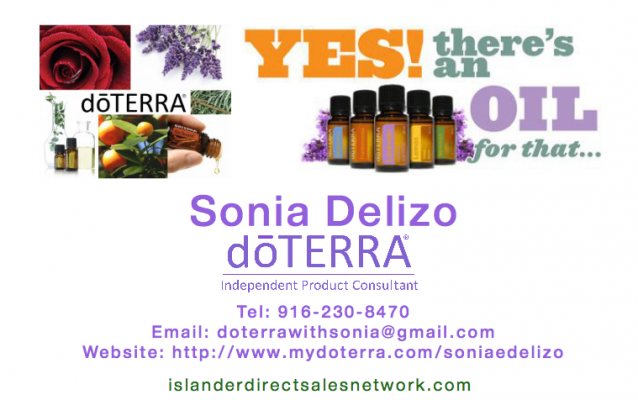 DoTERRA by Sonia Joins Islander Direct Sales Network